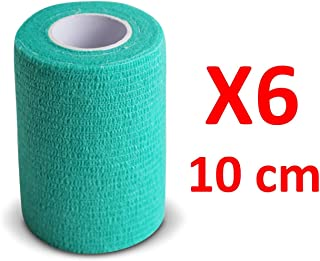 DGdolph Self-Adhering Bandage Wraps Elastic First Aid Tape Stretch 4.5M X 10Cm Green