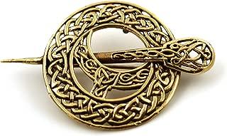 LynnAround Bronze Filigree Celtic Knot Irish Tara Pin and Brooches Vintage Norse Jewelry Thailand Made