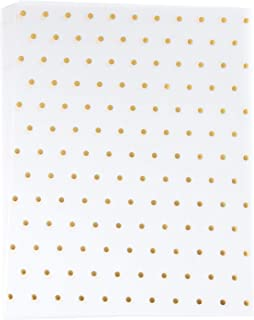 Vellum Paper - 24-Pack Gold Foil Polka Dot Pattern Translucent Stationery Invitation Paper, Single Sided, Printer Friendly, Great for Scrapbooking, Announcement, Crafting, 8.5 x 11 Inch Letter Size