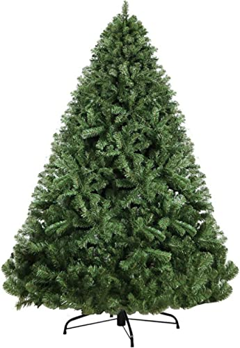 8FT Christmas Tree 2.4M Xmas Faux Green Tree Thick Foliage Jingle Jollys Holiday Decoration Indoor Décor Home Office ...