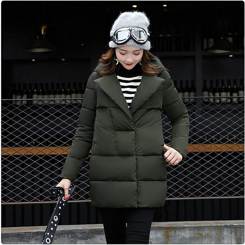 Queixiw Woman Winter Jacket Coat Cotton Padded Jacket Long Hood Slim Parkas Plus Size