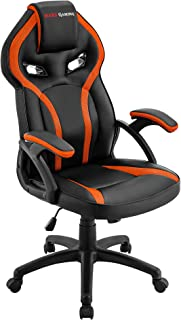 Mars Gaming MGC118 Silla Gaming Ergonómica en PU y Nylon, Regulable, Naranja, L