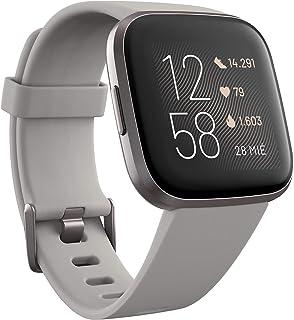 Fitbit Versa 2 - Smartwatch de salud y forma física, Gris piedra/gris niebla, con Alexa integrada