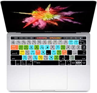HRH Adobe Lightroom Shortcuts Hotkey Silicone Keyboard Cover Skin for MacBook New Pro with Touch Bar 13 Inch and 15 Inch (...