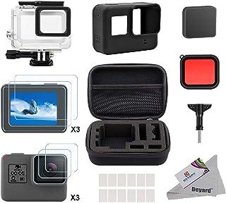 Deyard Kit de Accesorios para GoPro Hero 7(Sólo negro) Hero (2018) GoPro Hero 6 y Hero 5 Action Camera 25 artículos en 1 con Carcasa pequeña a Prueba de Golpes