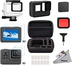 Deyard Accessory Kit for GoPro Hero 7(Only Black)/HD(2018)/6/5 with Shockproof Small Case Waterproof Case Bundle for GoPro Hero 7/ Hero HD(2018)/ Hero 6/ Hero 5 Action Camera