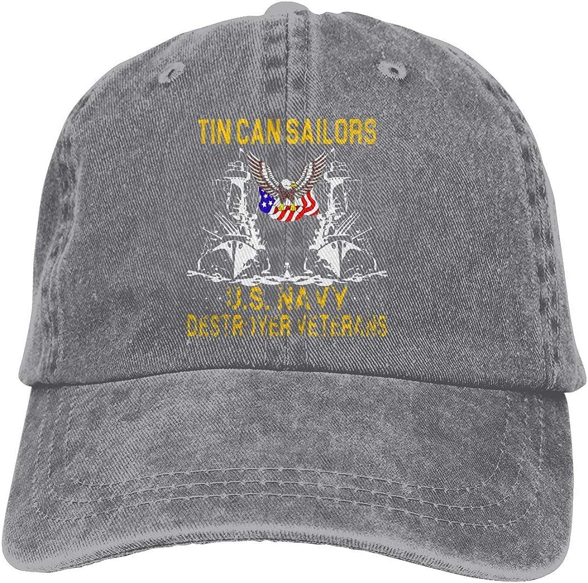 Tin Can Sailors Us Navy Destroyer Veterans Adjustable Vintage Washed Denim Cotton Dad Hat Baseball Caps Outdoor Sun Hat