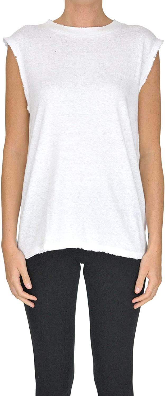 Iro Women's MCGLTPT000005090E White Cotton Top