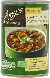 Cocina Rústica Italiana Abundante Sopa De Verduras 397G De Amy - Paquete de 6