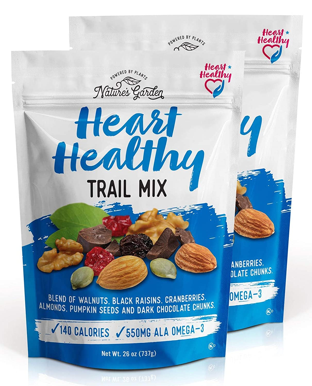 Nature's Garden Heart Healthy Trail Mix - 26 oz (Pack of 2)
