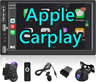 $82 » Sponsored Ad - Apple Carplay Double Din Car Stereo, Rimoody 7 Inch Touchscreen Car Radio Bluetooth Android/iOS Mirror Link...