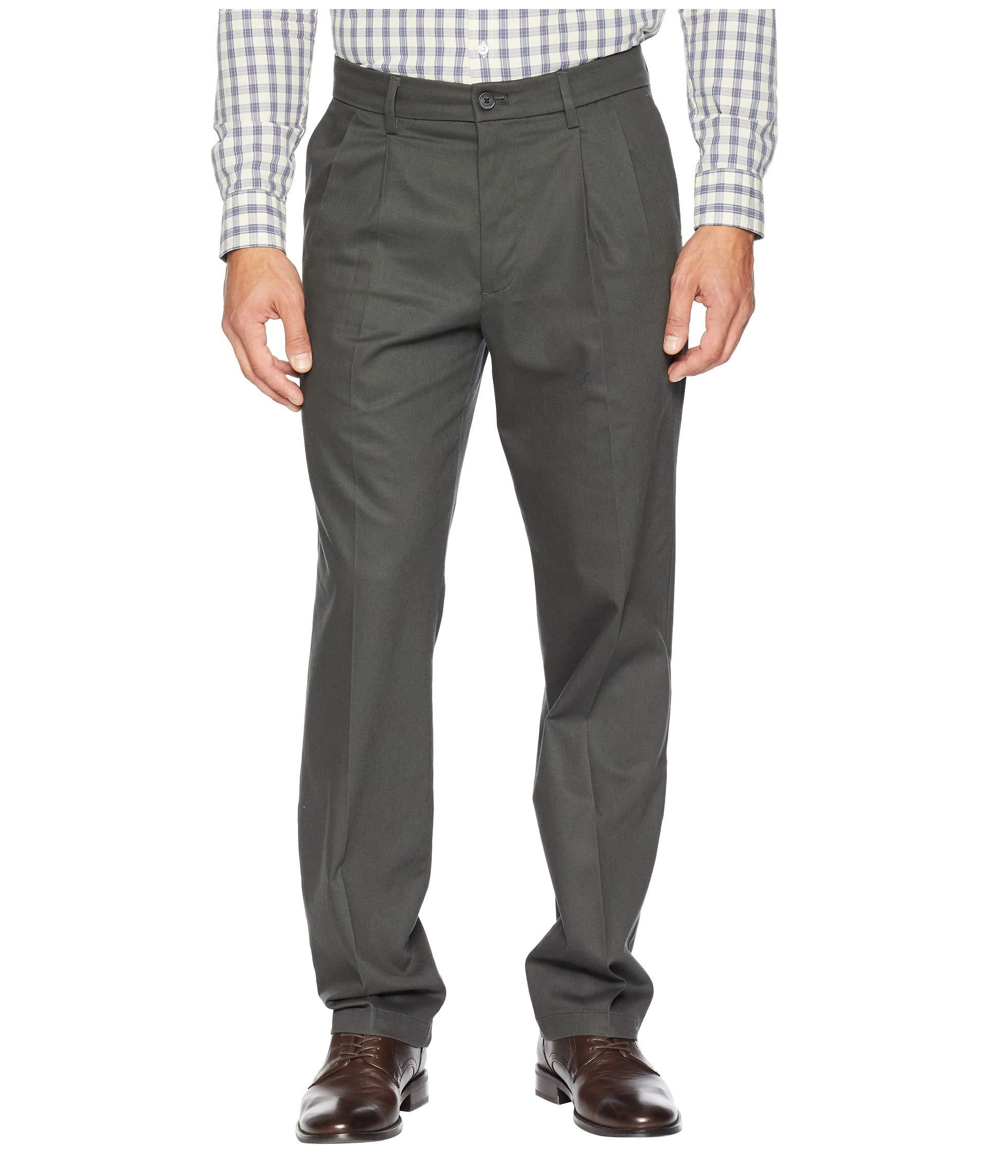 Pants Fit Stretch D3 Signature Cotton Steelhead Classic Dockers Pleated Lux Khaki P15qnWZS0a
