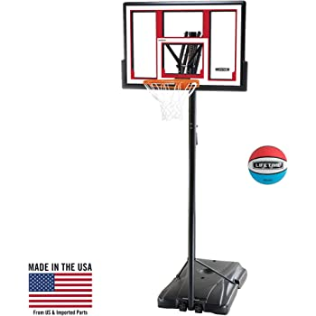 "Lifetime Pro Courtside 48"" Portable Basketball System with Basketball"
