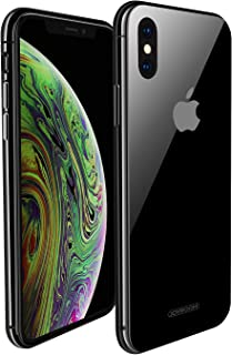 iPhone X / Xs Case Black, 9H Tempered Glass for iPhone Xs iPhone X Case, Glass Case Ultra Slim Fit ,Hard Back With Metal Bumper Black Cases ( Advanced Appearance) Joyroom 5.8 inch Cover