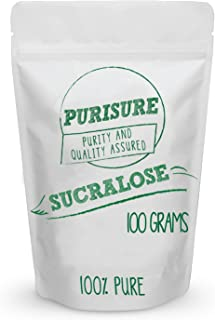 Sucralose Powder 100g (3330 Servings), Pure Zero Calorie Sugarless Sugar Substitute, Tastes Like Sugar With No Calories, Zero-Calorie Sweetener for Beverages or Baked Goods
