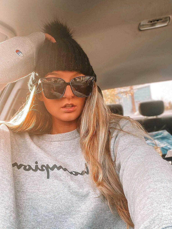FEISEDY Retro Square Polarized Sunglasses Women Men Oversized Vintage Shades B2600