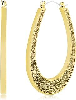 Steve Madden Women's Alloy Gold Hoop Earrings - SME482746GD