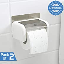 HOKIPO® Magic Sticker Series Toilet Paper Holder in Bathroom - Pack of 2