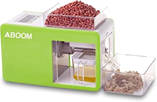 Aboom Home Series Stainless Steel Cold Oil Screw Press Easy Operation to Let You Know How to Press Oil at Home.