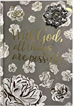 Pooch & Sweetheart ; With God all things are possible Matthew 19:24 Hardcover Journal 74391 Gold foil Brooch Embellished.