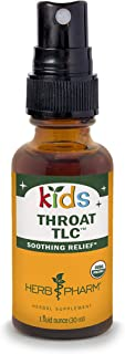 Herb Pharm Kids Certified-Organic Alcohol-Free Throat TLC Herbal Spray, 1 Ounce