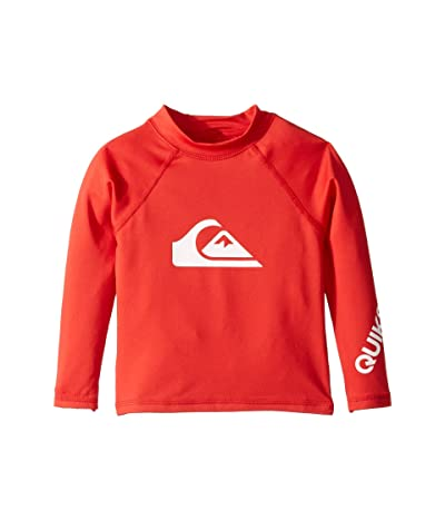 Quiksilver Kids All Time Long Sleeve Rashguard (Toddler/Little Kids) (High Risk Red) Boy