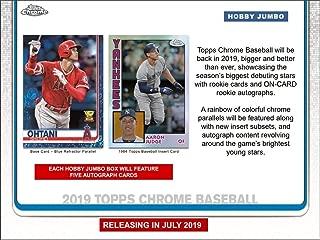 2019 Topps Chrome Baseball HTA Jumbo Hobby 8 Box CASE (Factory Sealed)