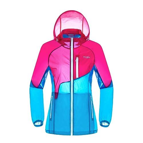 b1fd187fdf94 Makino Women s Super Light Windbreaker with Hood  Sun Protection Clothing    Rain Jacket   Summer