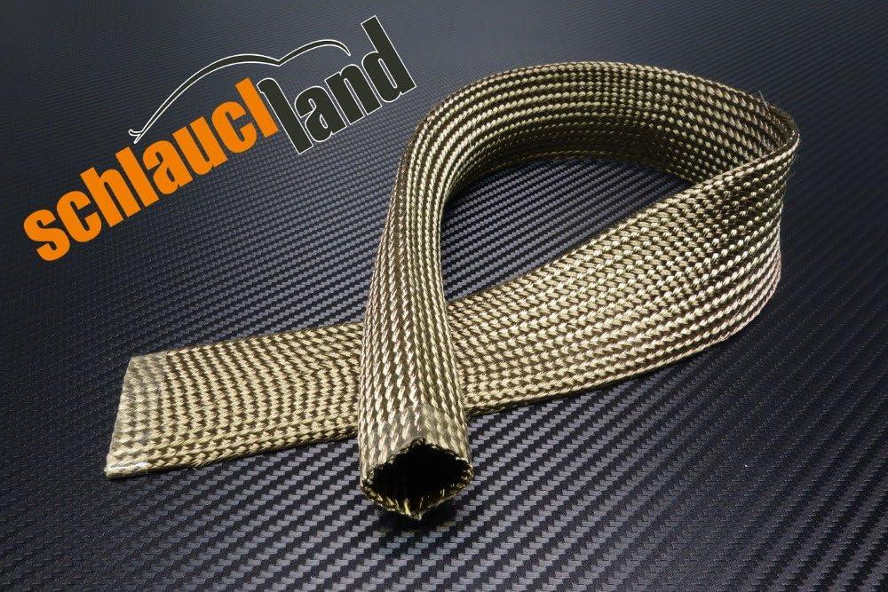 1m Kevlar Titan Hitzeschutzschlauch Id 40mm Heat Sleeve Thermoschutz Isolierschlauch Kabelschutz Auto