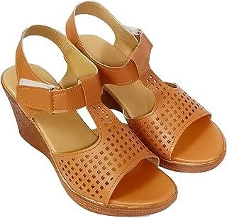 saanvishubh Latest Wedge Heel Sandals for Women Stylish