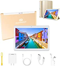 Tablets 10.1Pulgadas 4G Android 9.0 3GB RAM 32GB de Memoria Tableta PC,Quad-Core 8MP Tablet PC 8000mAh Bluetooth WiFi/OTG /Netflix Moviles Buenos o Tablets Puede Llamar Dual SIM (Oro)