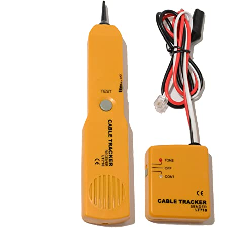 Haokaini Network Cable Tracker,Wire Tracer Circuit Tester Tone Generator and Probe Kit,Find Trace Wires and Cables,Test Circuit Continuity