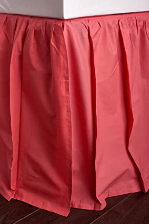 Be-You-tiful Home Basic Coral 3 Piece Bed Skirt,  Twin