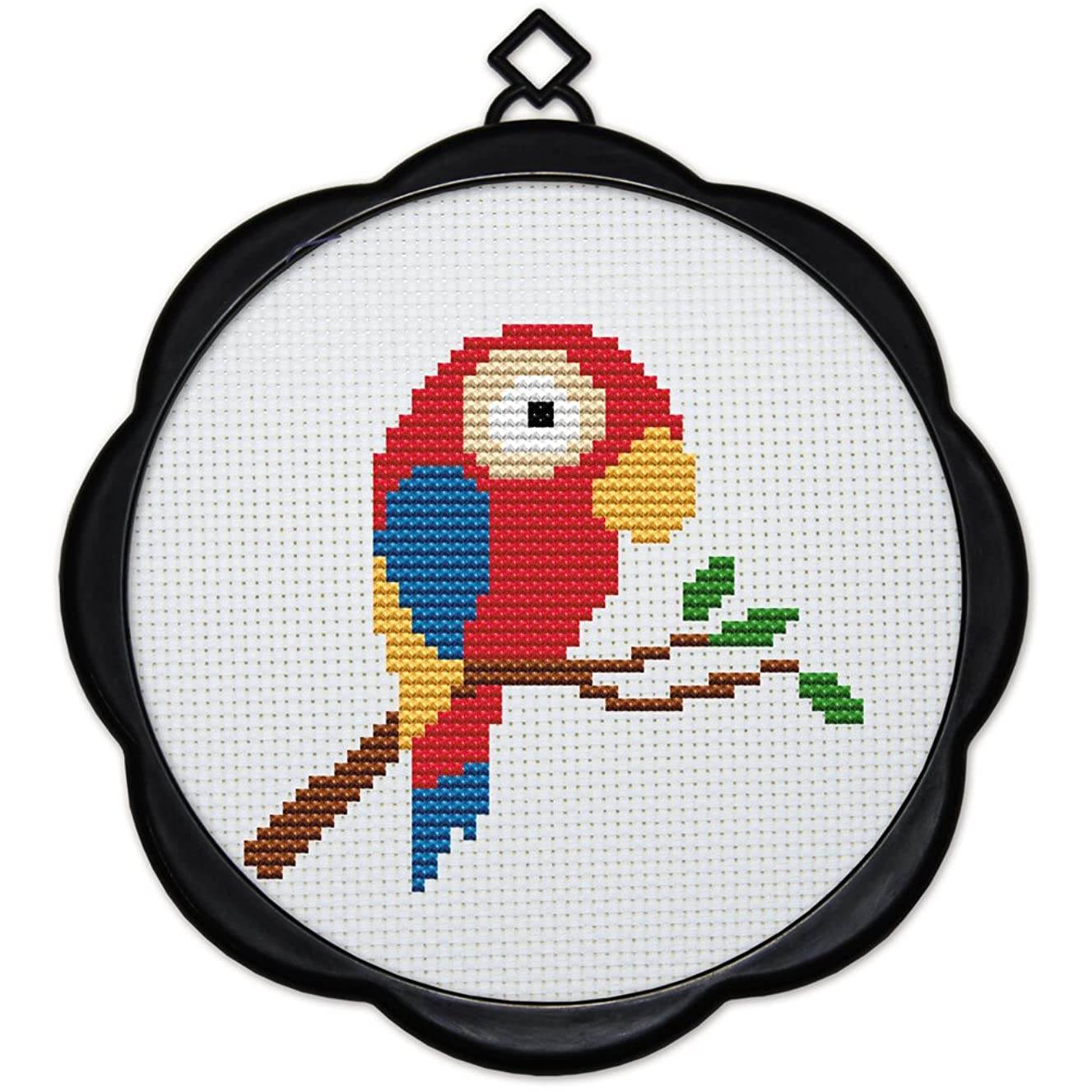 Full Range of Embroidery Starter Kits Stamped Cross Stitch Kits Beginners for DIY Embroidery (Multiple Pattern Designs) - A Little Parrot