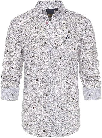 ALTONADOCK Camisa Blanca Estampada Ovejas para Hombre Small ...