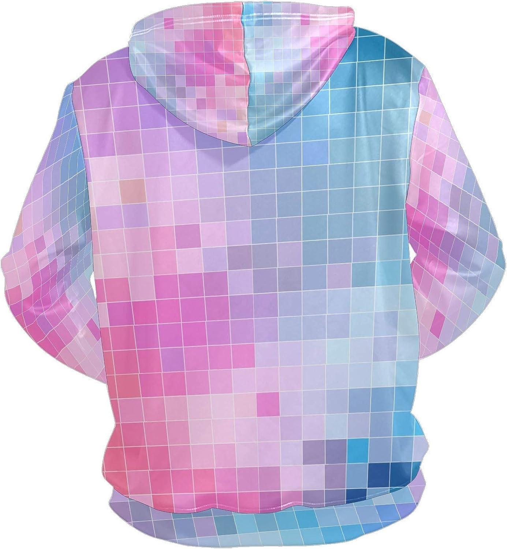 Color Pixel Sky Mens Sport Hoodie Big and Tall Hoodies for Men Women Oversized Hooded Sweatshirt Hip Hop Pullover Hoodie Midweight Hood for Boys Girls