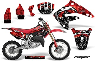 AMR Racing MX Dirt Bike Graphic Kit Sticker Decals Compatible with Honda CR85 2003-2007 - Reaper Red