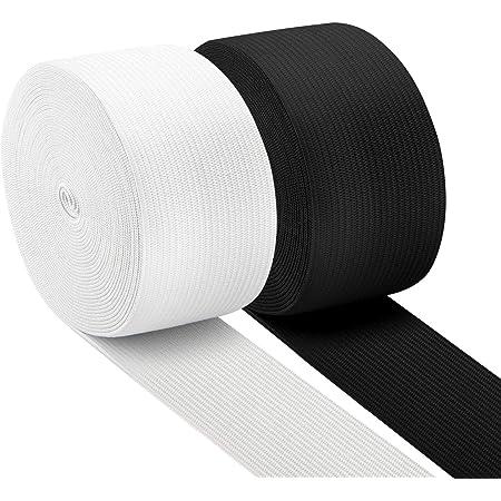BZVlemon Elastic Sewing Bands 5.5 Yards 1 Inch Flatback White Knit Elastic Spool Heavy Strenth High Elasticity Knit Elastic Band for Sewing