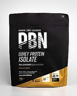 Premium Body Nutrition, proteine isolate del siero di latte in polvere (Whey-ISOLATE), 1 kg, cookies & cream, 33 porzioni