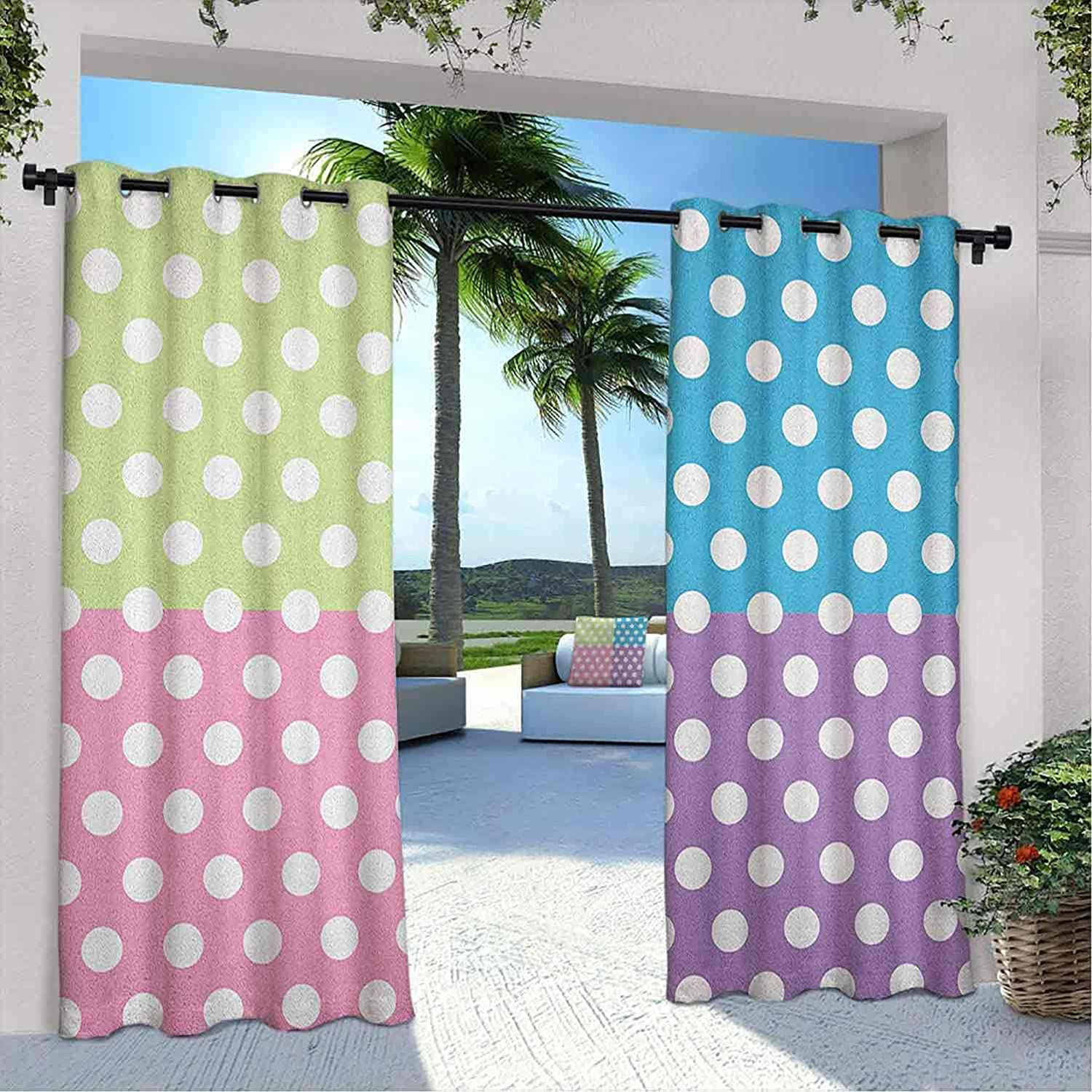 Outdoor Pavilion Polka Dots 2021new shipping free Curtain in Modern Same day shipping Patchw