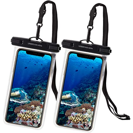 UNBREAKcable Universal Waterproof Case 2 Pack - IPX8 Waterproof Phone Pouch Dry Bag for iPhone 11 Pro Max Xs Max XR XS X 8 7 6s 6 Plus Samsung S20 S10e S9 S8 Huawei P30 Pro 20 Pro, Up to 6.6 inch
