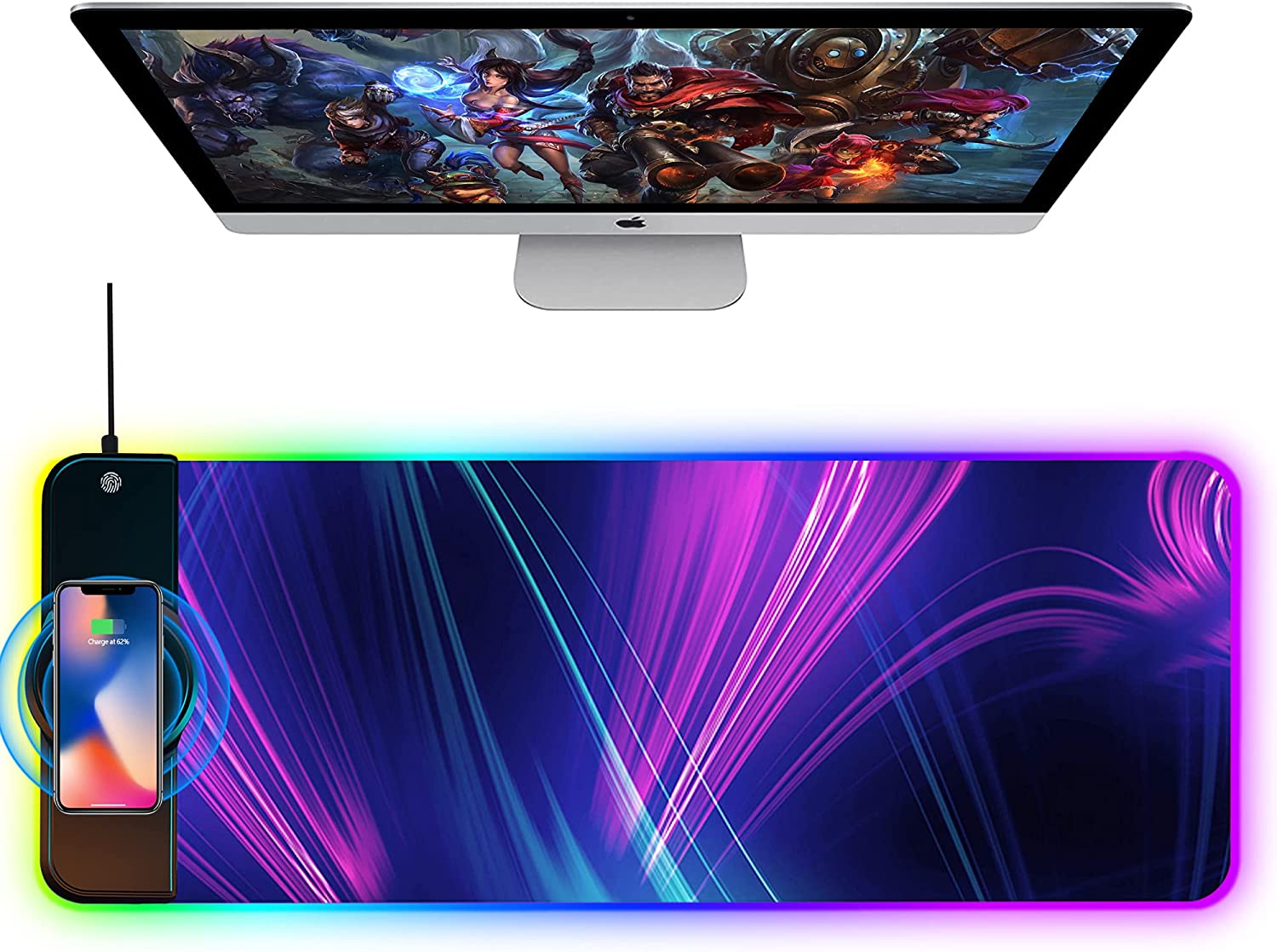 OFFICDO Wireless Inexpensive Charging Mouse Extended Pad Ranking TOP9 RGB 10W