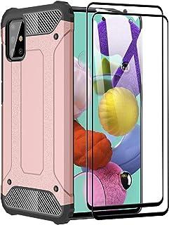 FANFO® Funda para Samsung Galaxy A71, protección contra Golpes de TPU + PC Resistente a arañazos (Doble Capa) Carcasa para...
