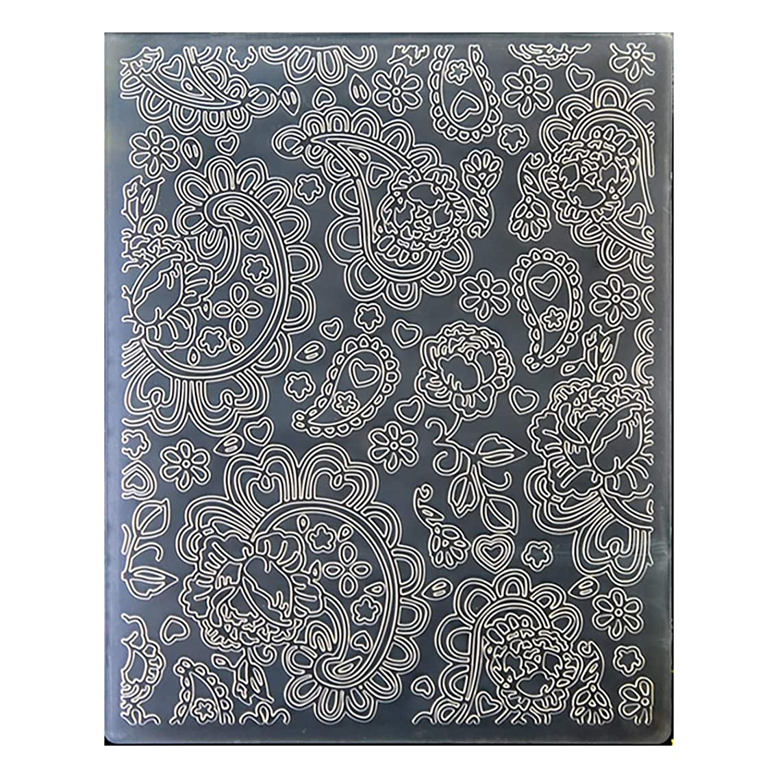 Kwan Crafts Heart Plastic Embossing Folders for Card Making Scrapbooking and Other Paper Crafts, 12.1x15.2cm