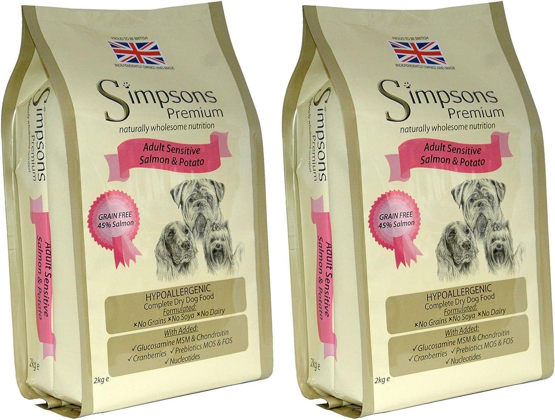 2 x 12kg Simpsons Premium Adult Sensitive Salmon and Potato Dry Dog Food Multibuy