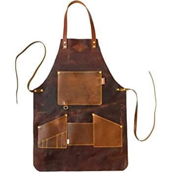 Genuine Leather Apron, Made in The USA (Harvest Natural)