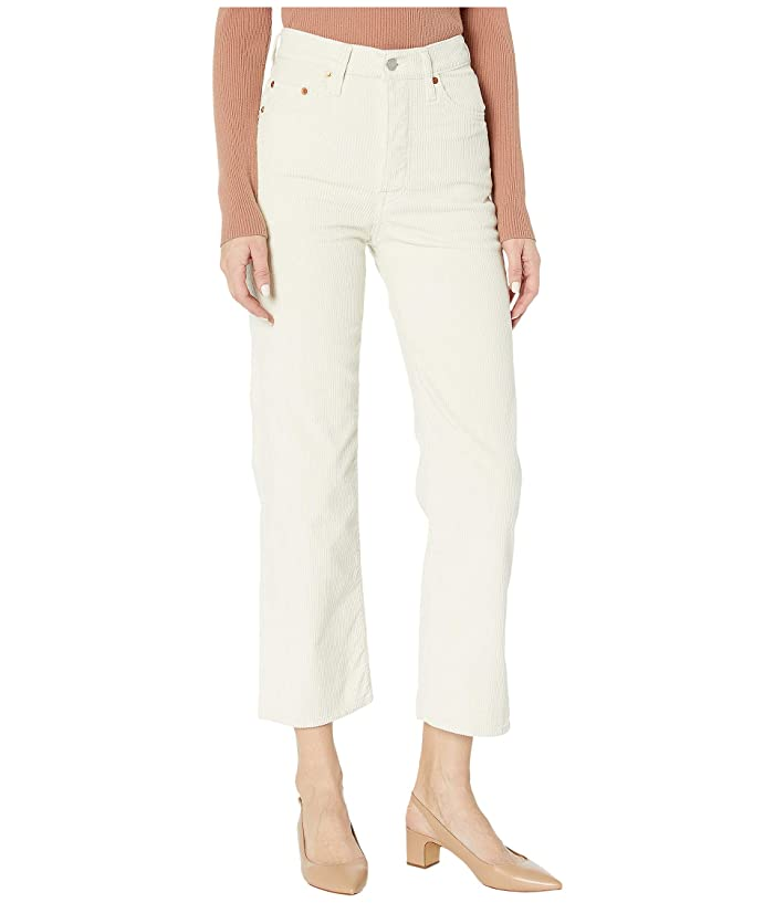 Levis Premium  Ribcage Crop (Ecru Wide Wale) Womens Jeans