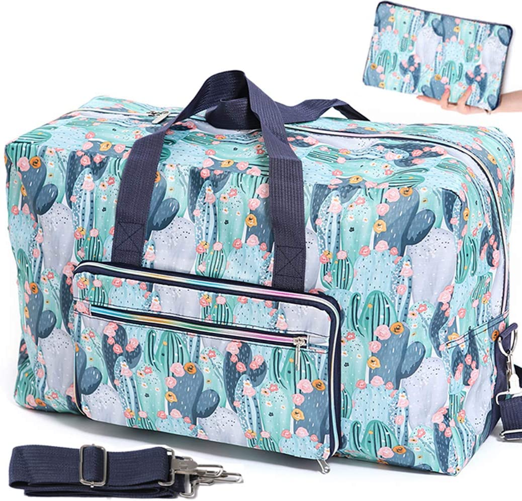 Now half on sale Foldable Travel Duffle Bag for Women Wee Girls Cute Floral Large