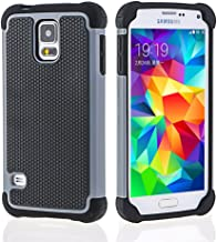Galaxy S5 Case,OHOH [Shock Absorbent] [Impact Resistant ] Samsung Galaxy S5 Case,Rubber&Plastic Hybrid Full-Body Shockproof Drop Resistant Protective Case Cover for Samsung Galaxy S5(Gray)