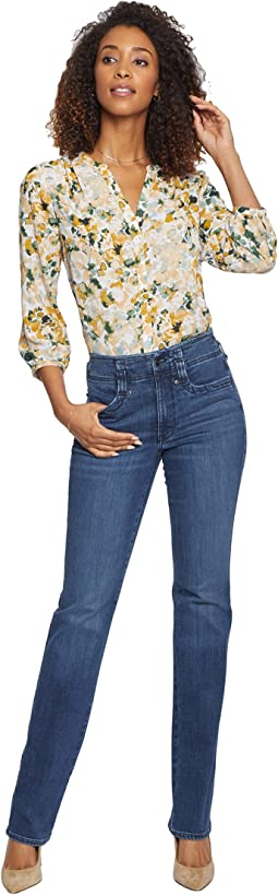 High-Rise Marilyn Straight Jeans in Saybrook